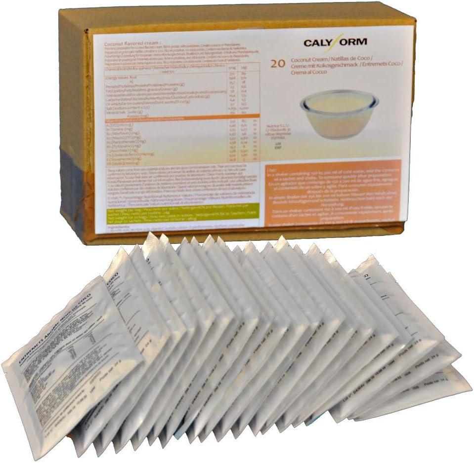 CALYFORM Natillas proteicas para dieta sabor Coco |100% saciante | Proteína en polvo para preparar natillas de calidad y aporte en aminoácidos ...