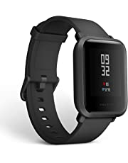 Amazfit Bip Smartwatch by Huami with All-Day Heart Rate and Activity Tracking, Sleep Monitoring, GPS, Ultra-Long Battery Life, Bluetooth, IP68 Waterproof (Black)