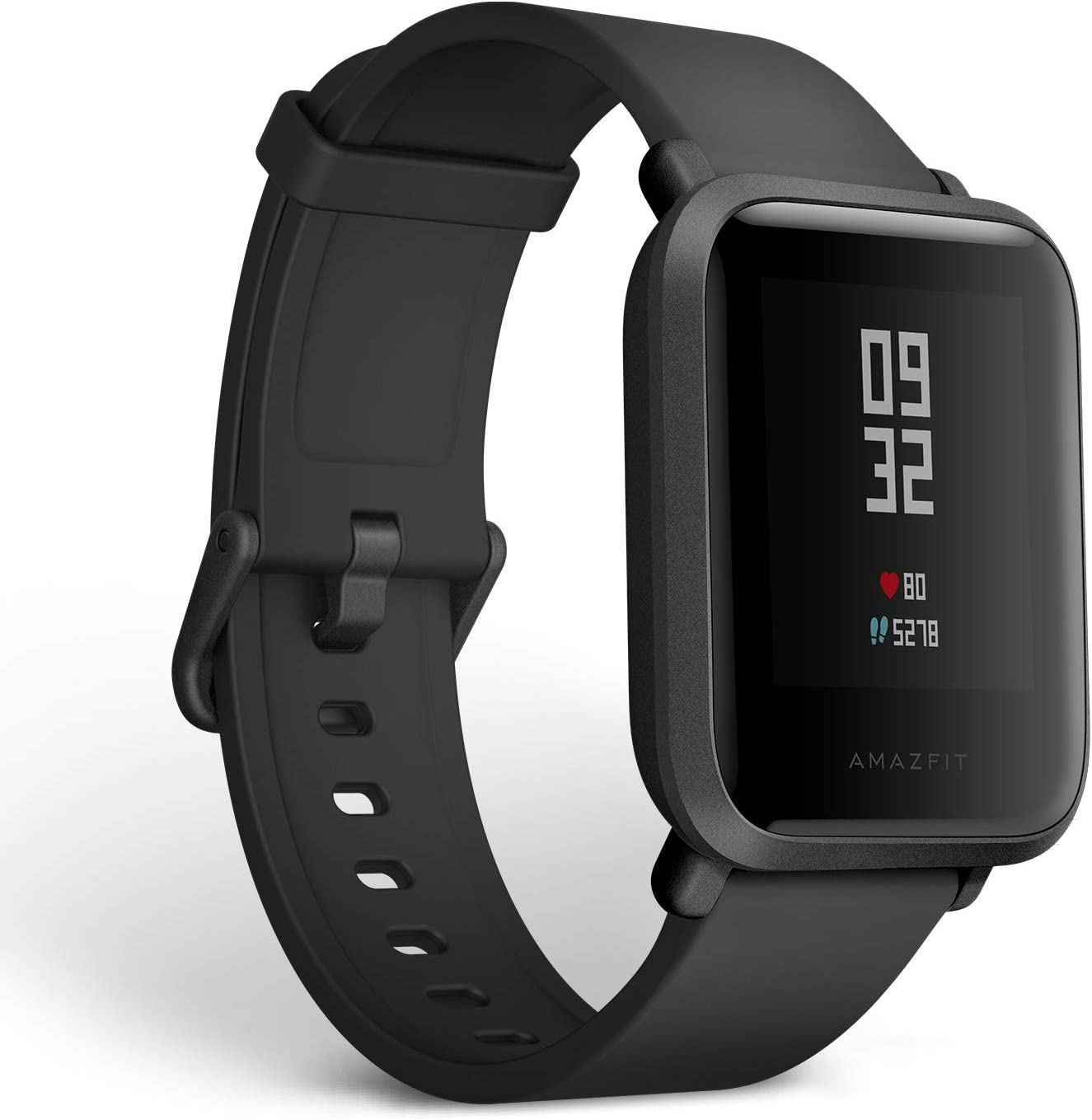 B078YRTS86 Amazfit Bip Smartwatch with All-Day Heart Rate and Activity Tracking, Sleep Monitoring, GPS, Ultra-Long Battery Life, Bluetooth, US Service and Warranty (A1608 Black) 61b7GRV385L