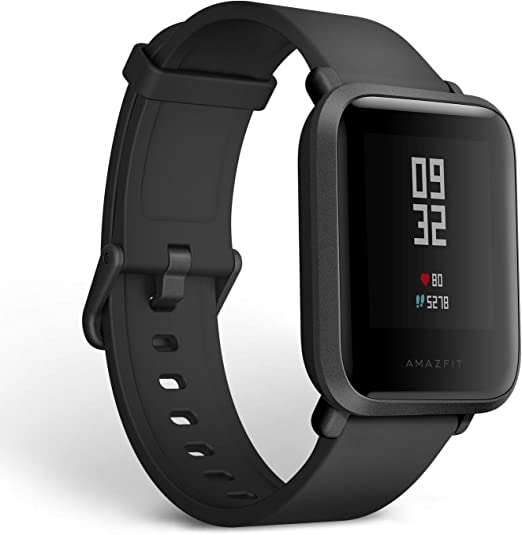 Amazfit Bip Fitness Smartwatch, All-Day Heart Rate and Activity Tracking, Sleep Monitoring, Built-In GPS, 45-Day Battery Life, Bluetooth, Onyx Black best chinese smartwatches