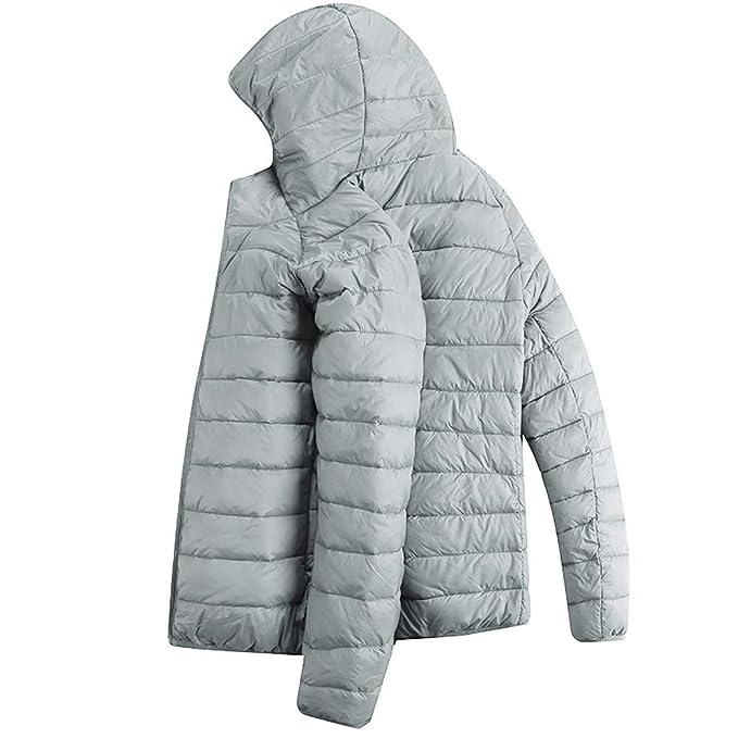 11d2dfa49 LisYOU F Men's Winter Puffer Jacket Quilted Packable Zip Up Pockets ...