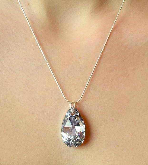 f88e92d8d4f2 Crystals & Stones Juego de joyas de Plata de ley 925, set con ...