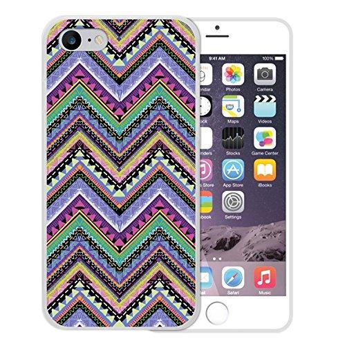 iPhone 8 Hülle, WoowCase Handyhülle Silikon für [ iPhone 8 ] Aztekisches Muster Handytasche Handy Cover Case Schutzhülle Flexible TPU - Transparent