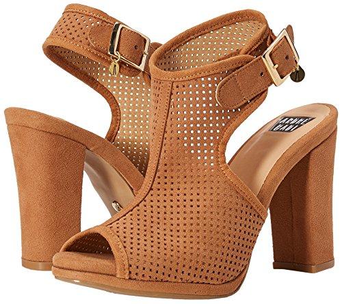 de Camel para Zapatos André Badi Marion Tacón Tostado Abierta Mujer con Punta atBUwqw4