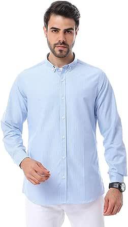 andora Cotton Regular Fit Button Down Collar Gingham Shirt for Men