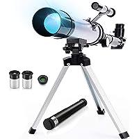 Telescopio lunar para niños con Buscador de estrellas, Telescopio astronómico refractivo con dos oculares, Ocular de…