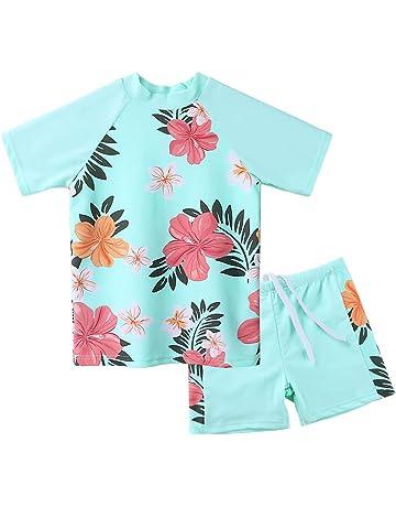 46b704252 Amazon.com  Girls - Swimwear  Sports   Outdoors  One-Piece Suits ...