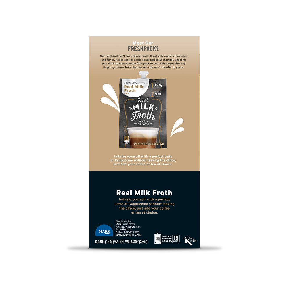 Real Milk Froth Powder Freshpacks for MARS DRINKS FLAVIA Brewers, 18 Packets: Amazon.com: Grocery & Gourmet Food