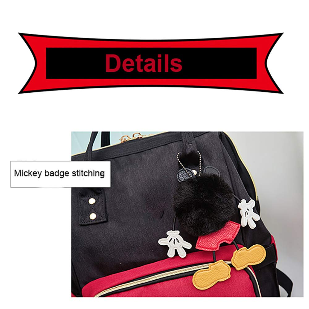 YJJ Sac /à Langer ,A Portable Multi-Fonctions Sac /à Dos /étanche Voyage Nappy Sacs /à Grande capacit/é avec Poches isol/ées Poches de Rangement de Couches Mickey