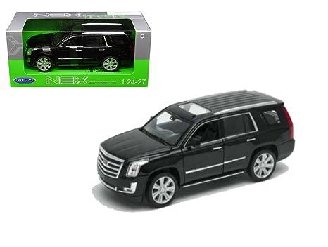 Amazon Com Welly 1 24 Scale 7 2017 Black Cadillac Escalade Suv