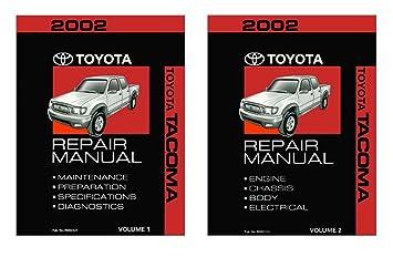 amazon com 2002 toyota tacoma shop service repair manual book rh amazon com 2006 toyota tacoma shop manual toyota tacoma service manual pdf