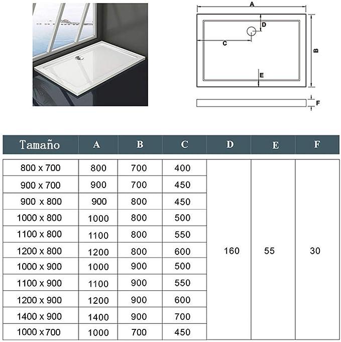 Mamparas Angular Doble Puertas Correderas Gris Mate Cristal 5mm para Ducha 120x80cm + Plato de Ducha: Amazon.es: Bricolaje y herramientas