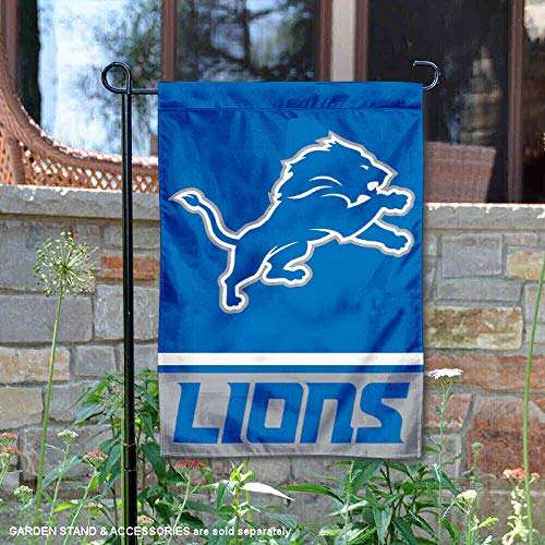 WinCraft Detroit Lions Double Sided Garden Flag ()