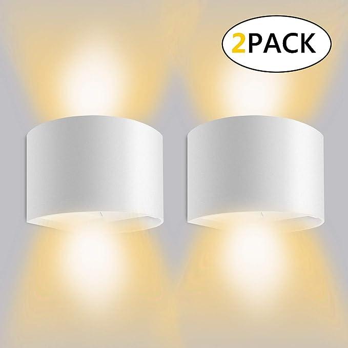 36 opinioni per 12W*2 Lampada da Parete per Interni/Esterno Led Moderno, Applique da parete Muro