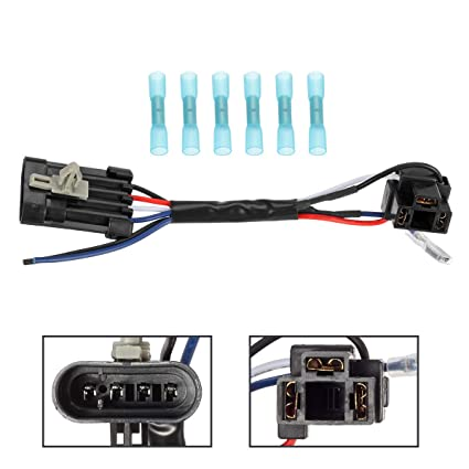 Enjoyable Amazon Com Partsam 5 3 4 Inch 7 Led Headlight Wire Harness Adapter Wiring Cloud Usnesfoxcilixyz