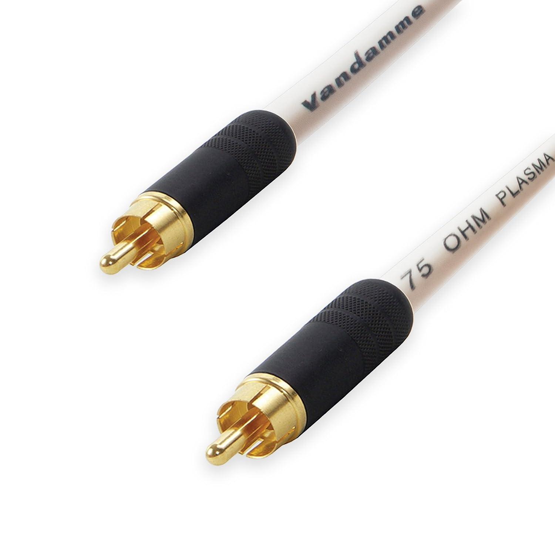 Premium Van Damme coaxial RCA a RCA LEAD. 75 Ohm Cable Coaxial SPDIF de vídeo CCTV.: Amazon.es: Instrumentos musicales