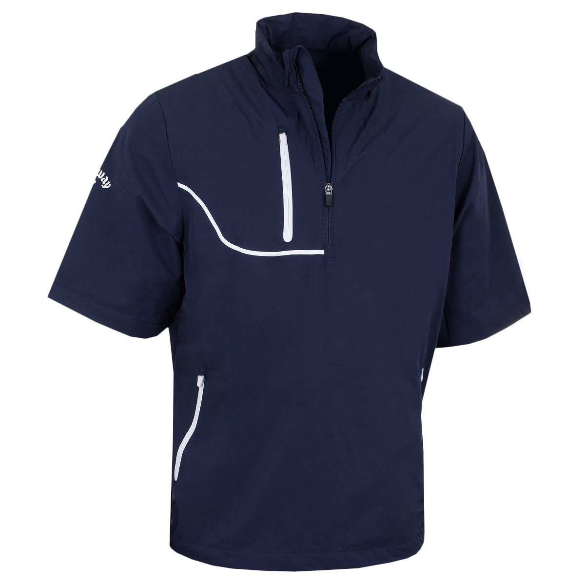 Callaway Golf Men's Gust 3 Short Sleeve Opti-Repel Windjacket - US M - Peacoat by Callaway