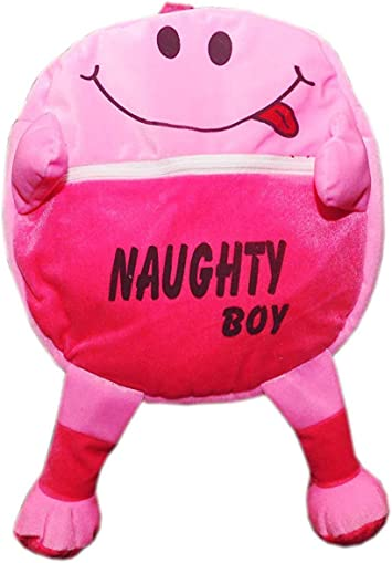 Punyah Creations Premium Quality Naughty Toy Soft Plush Backpack School Bag for Kids - (Pink)