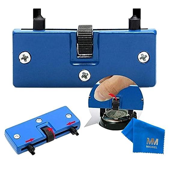 MMOBIEL Llave Ajustable para Abrir (Remover) Tapa Trasera de Relojes. Sirve para reemplazo de batería o reparación de Relojes.: Amazon.es: Relojes