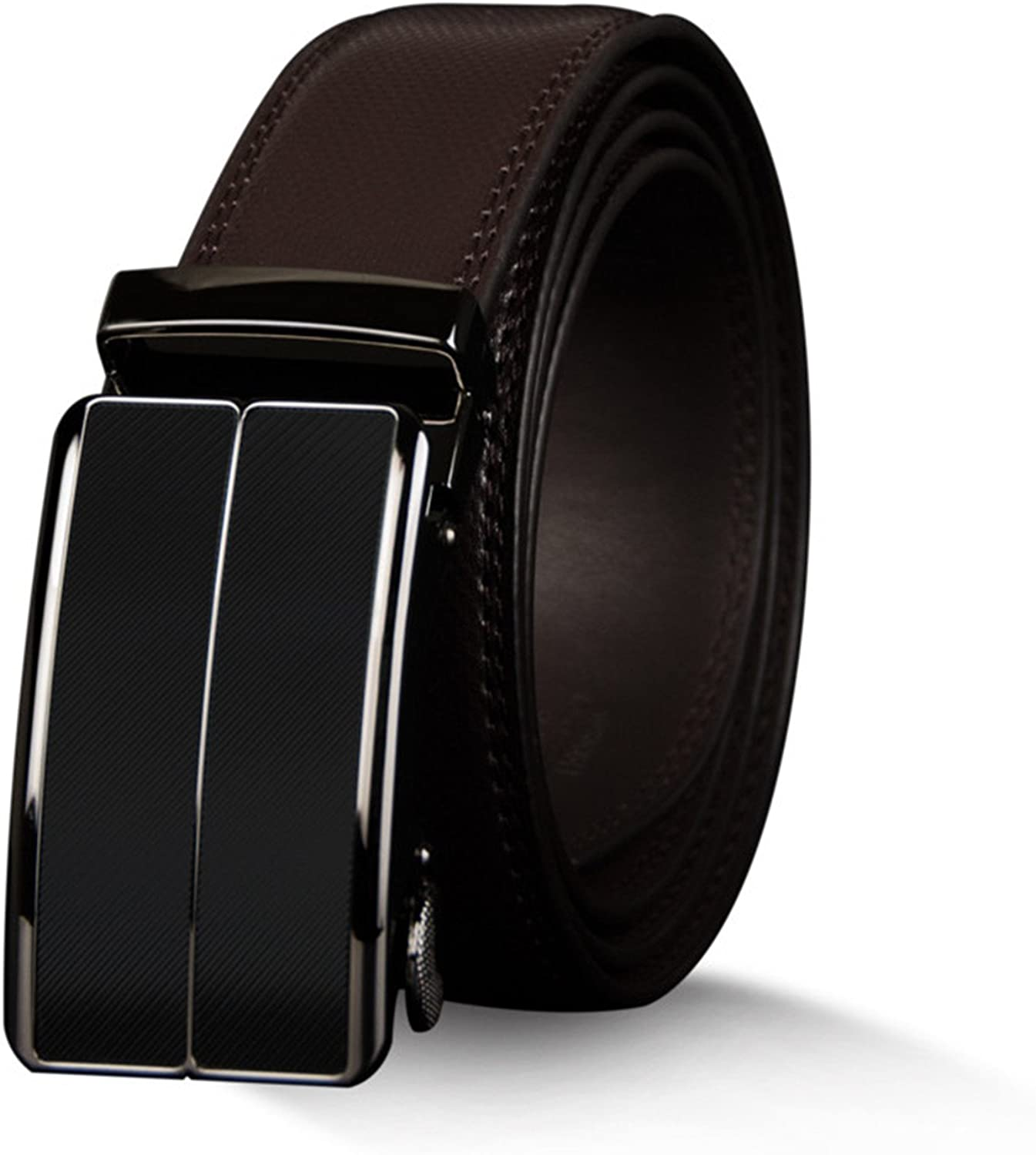 Wanyesta MenS Cow Genuine Leather Belt Strap Automatic Alloy Buckle Belts