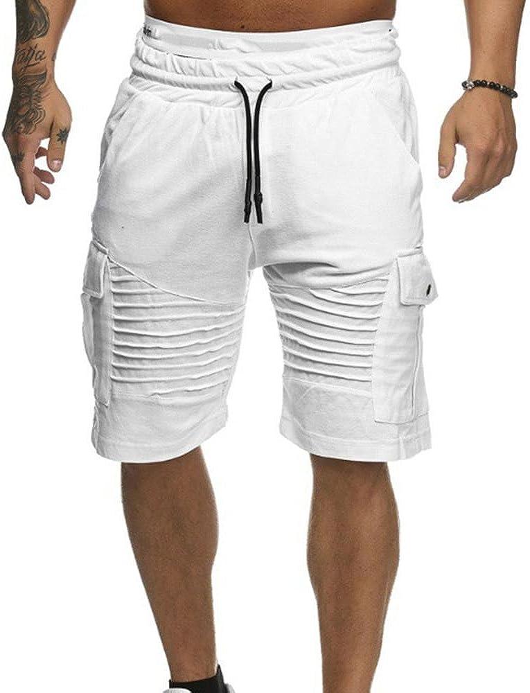 Fseason-Men Premium Select Letter Elastic Drawstring Beach Board Shorts