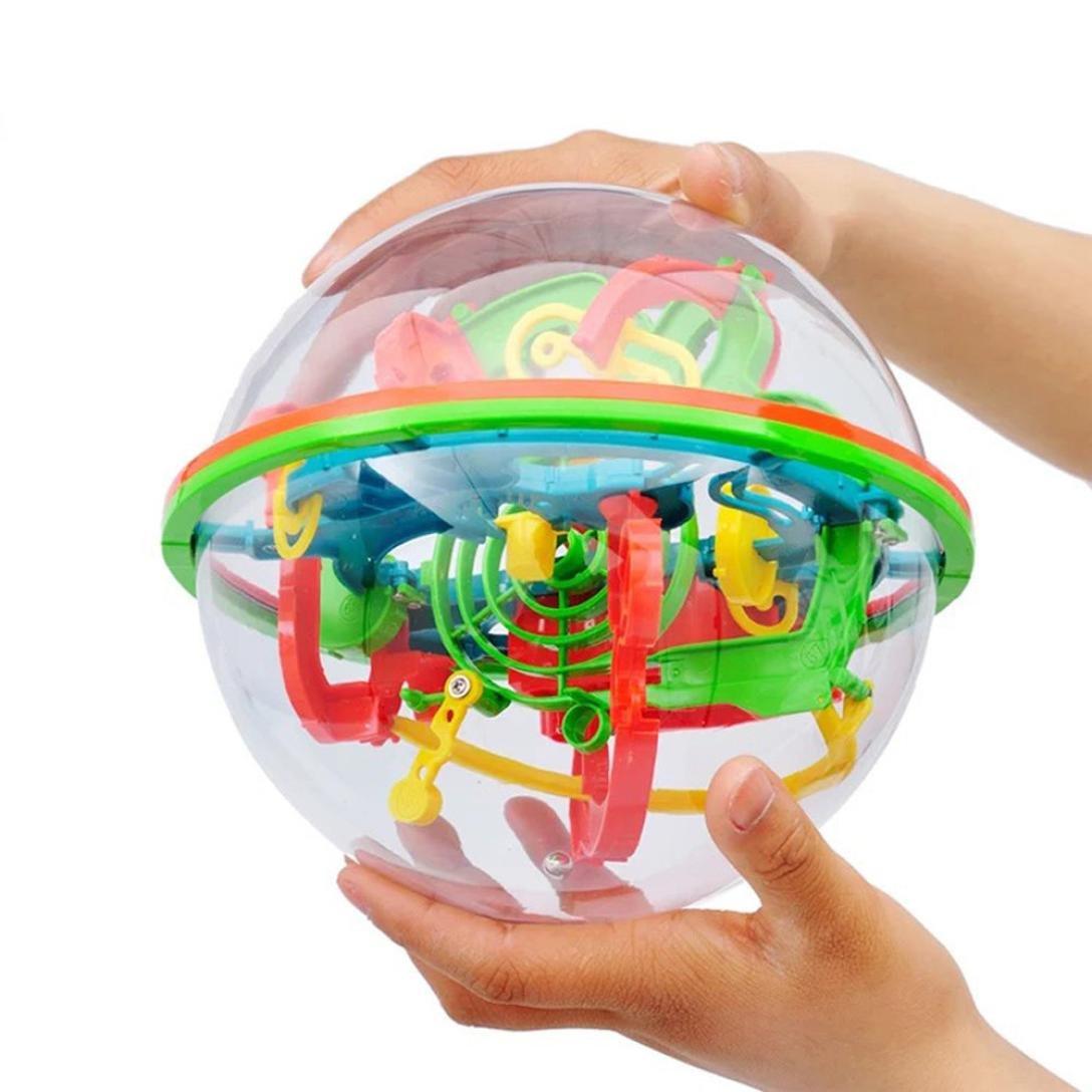 Bonjouree Puzzles 3D 100 Barri/ères Labyrinthe Boule dintelligence Magique Perplexus Balance Jouet Enfants