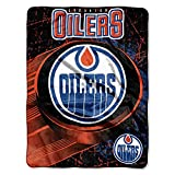The Northwest Company NHL Edmonton Oilers Ice Dash Micro Raschel Throw, 46-Inch by 60-Inch