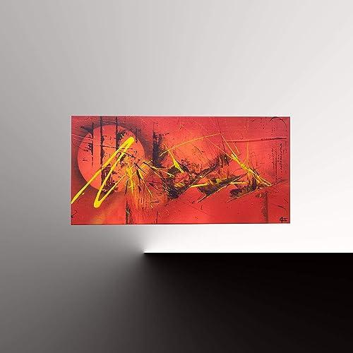 Tableau Abstrait Contemporain Fait Main Art Abstrait A L Acrylique 30cmx60cm Peinture Peintre Goartdeco Toile Unique Cadeau Decoration Bureau Salon Amazon Fr Handmade