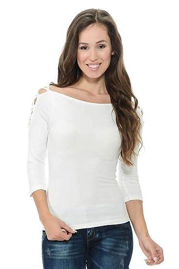 d562159edc Diamante Fashion Women s Blouse · Style D178 at Amazon Women s Clothing  store