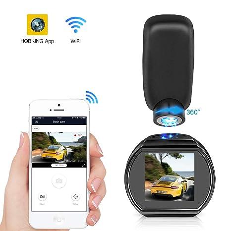 HQBKING Mini Cámara De Coche Cámara WiFi DashCam 1080p FHD Gran Ángulo de 170° Magnético con ...