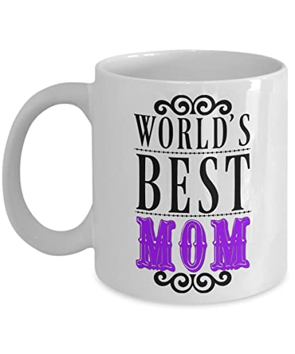 05a6b7247b1 Best Mom Mug - Worlds Best Mom Coffee Mugs for Birthday, Mother's Day or  Just