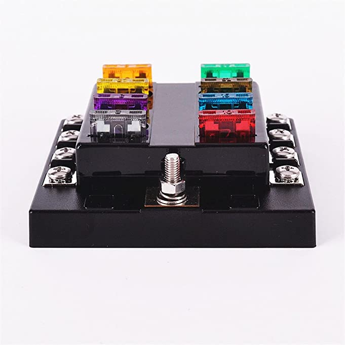 61b7O%2B6RJ1L._SX681_ amazon com iztoss 8 way circuit car fuse blocks box 32v dc blade Outdoor AC Fuse Box On at mifinder.co