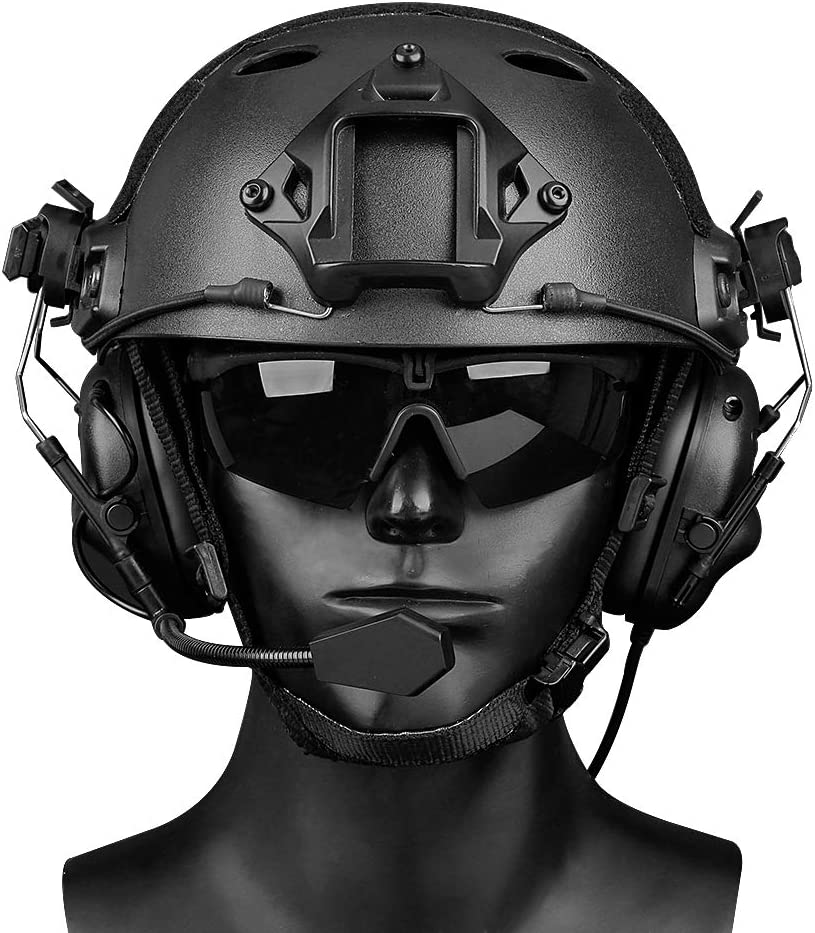 no Noise Reduction Function Black ATAIRSOFT Tactical Headset Unlimited Power intercom with Microphone Waterproof Headphones