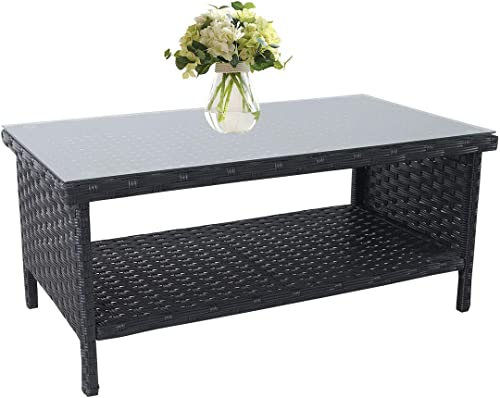 Outdoor PE Wicker Coffee Table