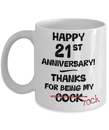 Amazon 21st Wedding Anniversary Gift Mug For Him Novelty Idea