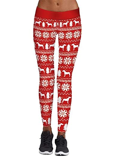 6f818a85579bff Eyiou Womens Chic Ugly Christmas Sweater Leggings Tights Funny Costume  (Deer, S)