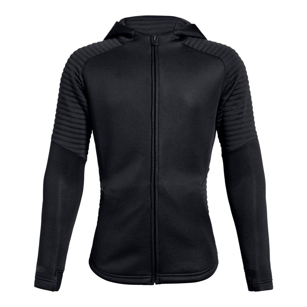 Under Armour Boys Move Full Zip, Black (001)/Black, Youth Small by Under Armour