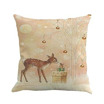 Lenfesh Navidad impresión Fundas De Cojines Throw Pillow ...
