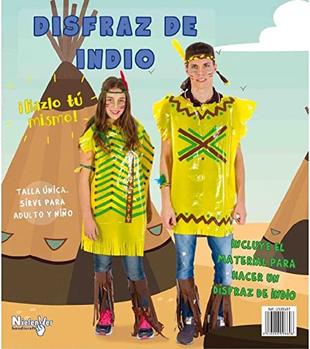Niefenver 1500107 - Disfraz Bolsa Plástico Indio Niefenver: Amazon ...