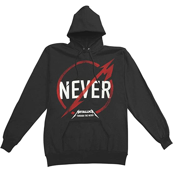 Metallica - Nunca Logo Sudadera con Capucha Negro Negro negro Large: Amazon.es: Ropa y accesorios