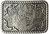 Nocona Men's Square Buckle, Silver, One Size