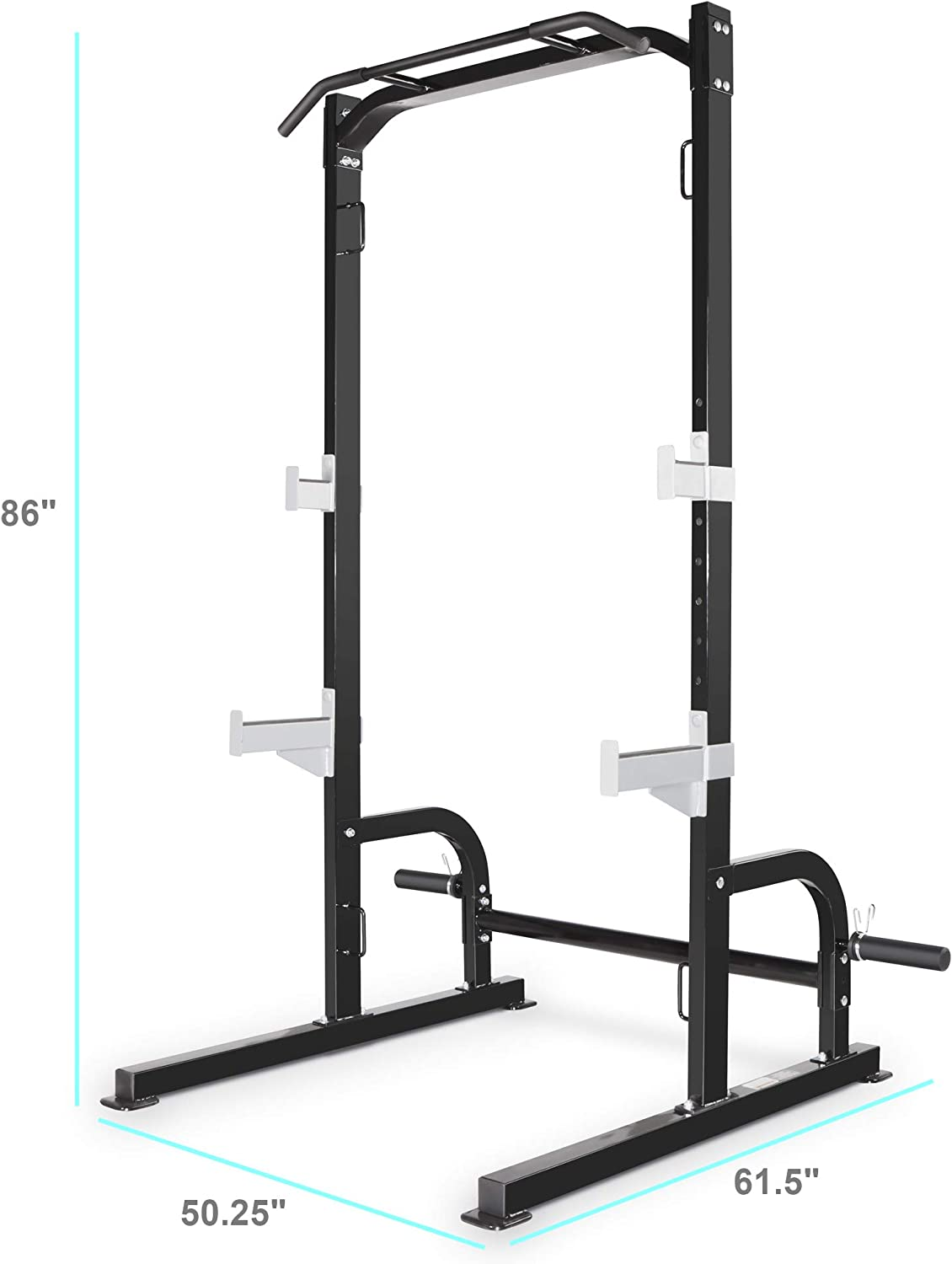 Marcy Olympic Cage Home Gym System – Multifunction Squat Rack, Customizable Training Station SM-8117