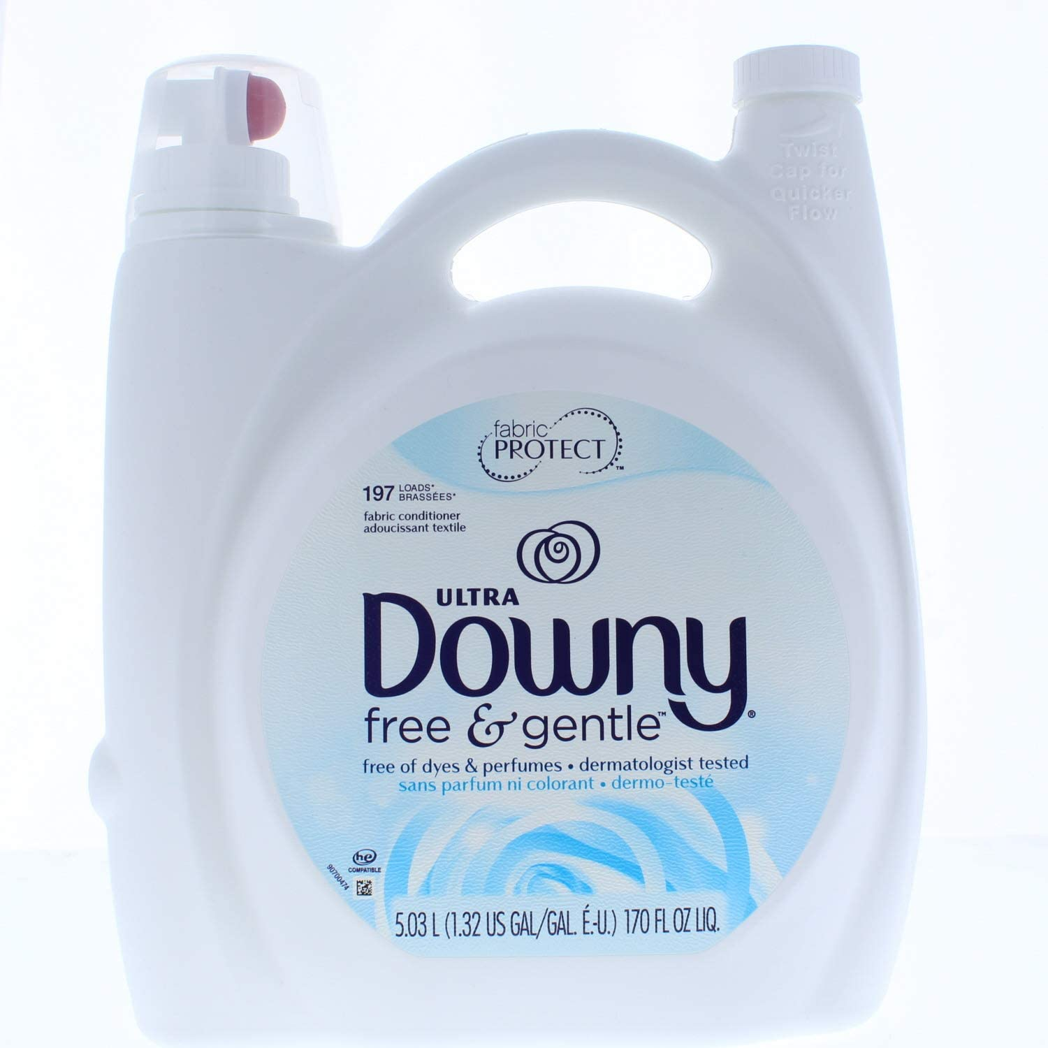 Downy Ultra Fabric Softener Free and Gentle Liquid 170 Fl. Oz 197 Loads