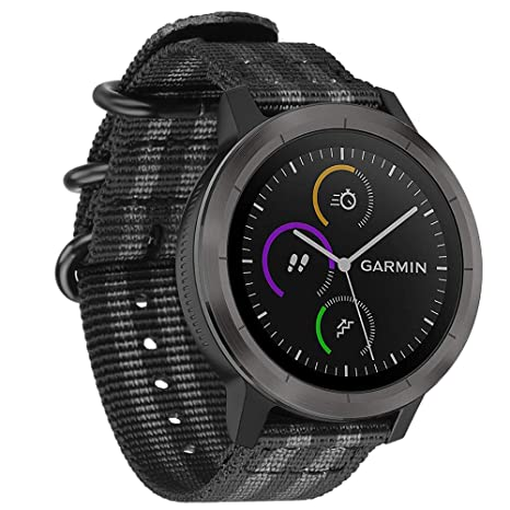 FINTIE Bracelet pour Garmin Vivoactive 3/ Garmin Vivoactive 3 Music/Forerunner 645 Music/Garmin Forerunner 245 Montre Connectée: Amazon.fr: High-tech
