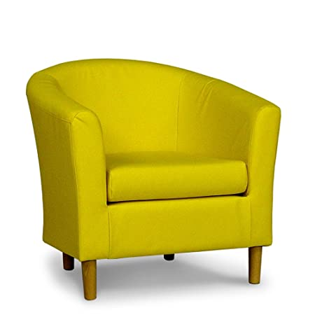 Groovy Lemon Yellow Faux Leather Tub Chair Amazon Co Uk Kitchen Gmtry Best Dining Table And Chair Ideas Images Gmtryco