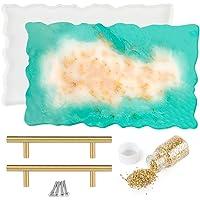 Outgeek Epoxy Mold DIY Practical Decorative Casting Mold Tool Set Silicone Mold Tray Mold