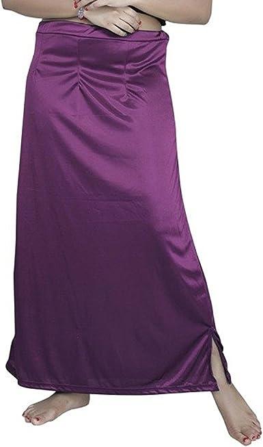 Plain Saree Petticoat Cotton Inskirt Underskirt Skirt Lavender Sari Innerwear