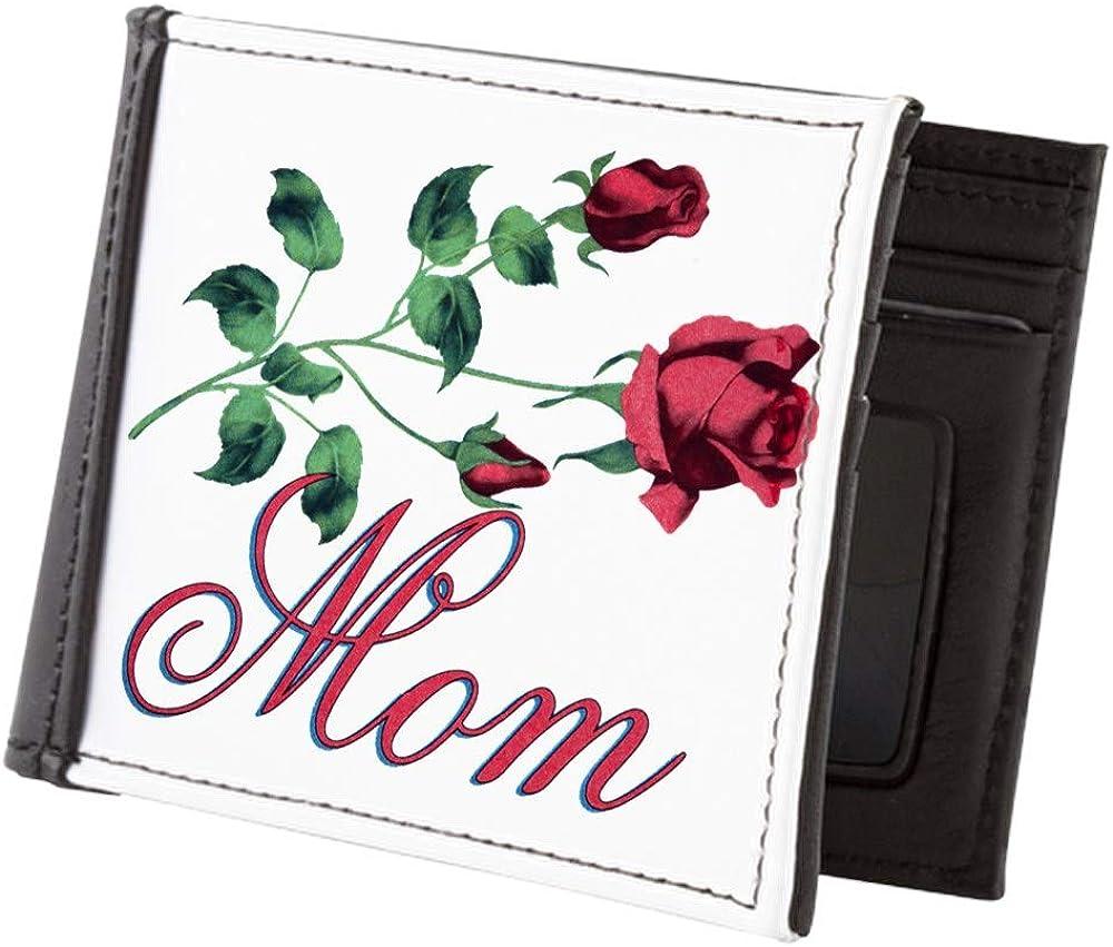 Royal Lion Mens Wallet Billfold I Love My Mom Mother Roses