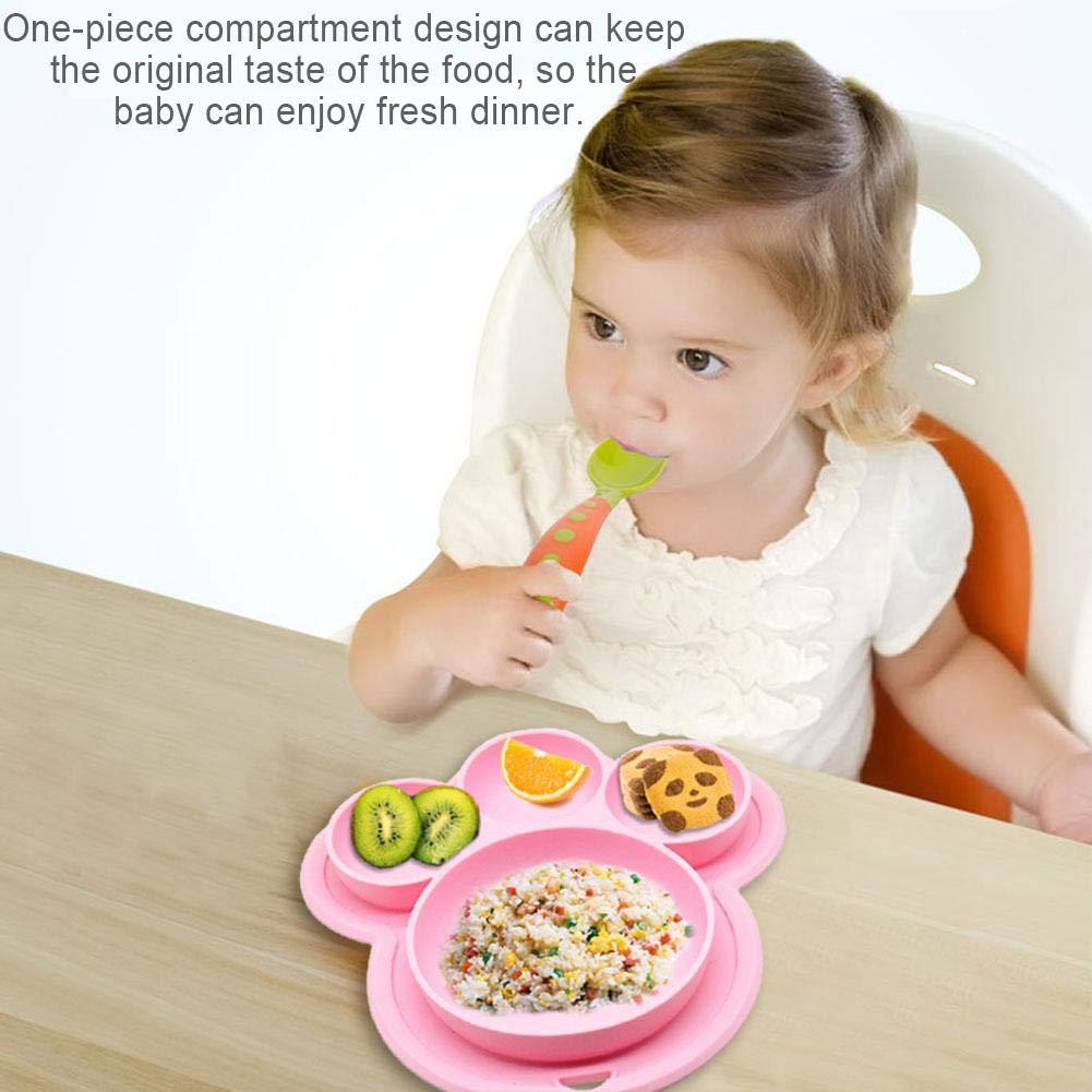 BPA-frei Bärentatze Form Baby Silikon Saugplatte Kinder Teller für Kleinkinder
