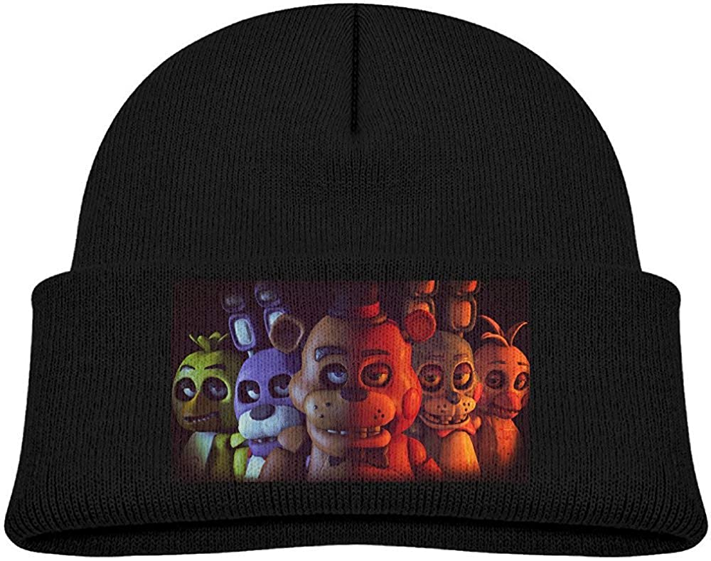 CehTureal BABYISMVP Five Nights at Freddys Pizzeria Kids Beanie Skull Hat Knitted Cap Black